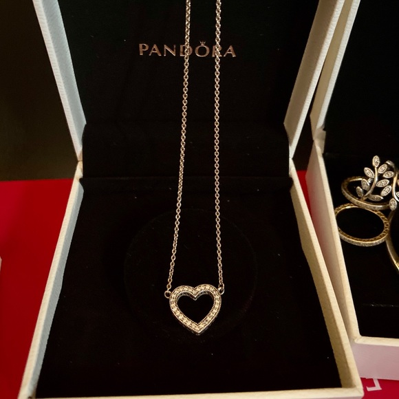 Pandora Jewelry - Loving Hearts of PANDORA Necklace
